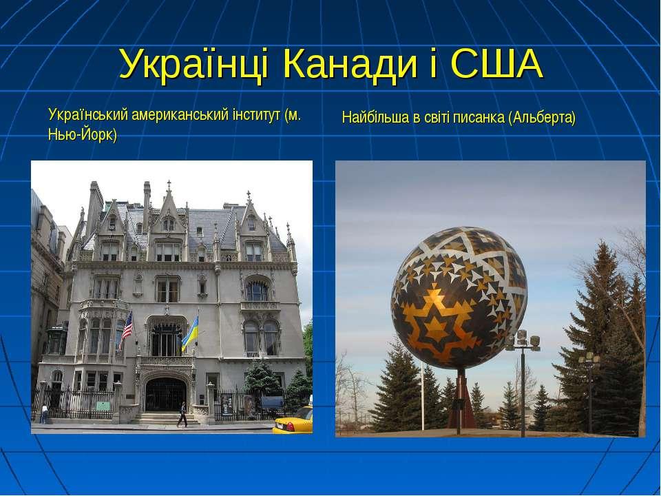 Українці Канади і США Український американський інститут (м. Нью-Йорк) Найбіл...