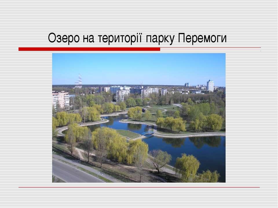 Озеро на території парку Перемоги