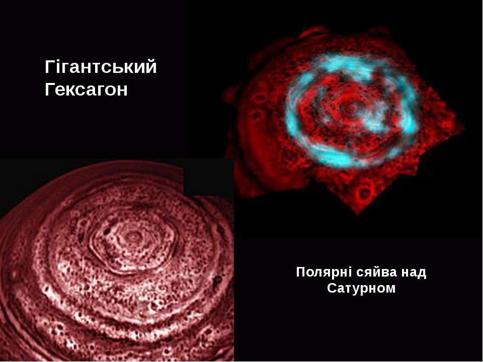 Гігантський Гексагон Полярні сяйва над Сатурном
