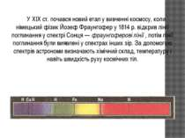 У XIX ст. почався новий етап у вивченні космосу, коли німецький фізик Йозеф Ф...