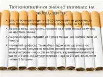 Тютюнопаління значно впливає на якість життя діти, які починають курити з 8-1...
