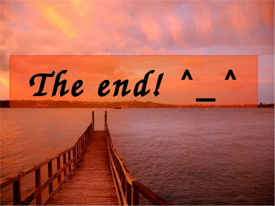 The end! ^_^
