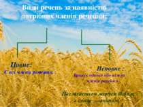 Види речень за наявністю потрібних членів речення: Повне: Є всі члени речення...