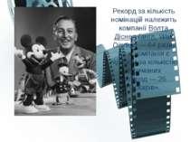 Рекорд за кількість номінацій належить компанії Волта Діснея (англ. Walt Disn...