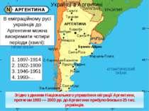 В еміграційному русі українців до Аргентини можна виокремити чотири періоди (...