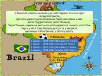 Українці в Бразилії У Бразилії українці належать до найстаріших етнічних груп...