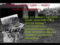 «Вихід з таборуодин– через трубу крематорію» Тутусеубивало: каторжна прац...