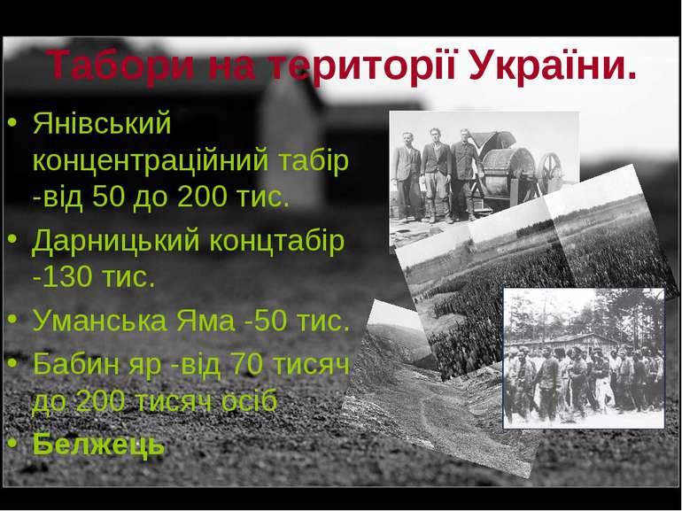 Табори на території України. Янівський концентраційний табір -від 50 до 200 т...