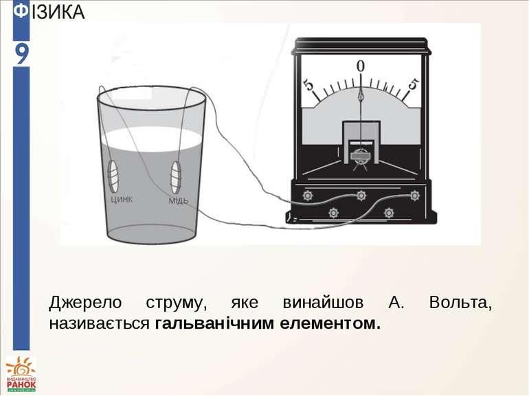Джерело струму, яке винайшов А. Вольта, називається гальванічним елементом.