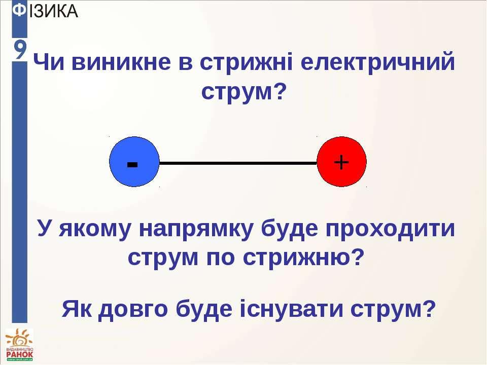 Чи виникне в стрижні електричний струм? У якому напрямку буде проходити струм...