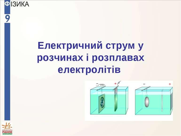 Електричний струм у розчинах і розплавах електролітів