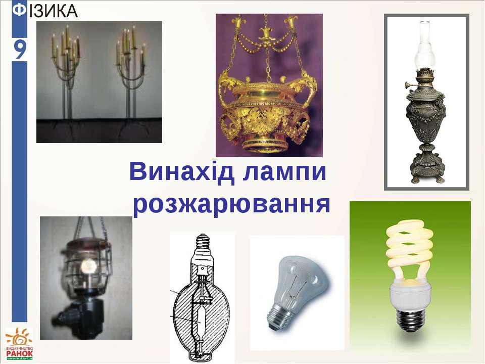 Винахід лампи розжарювання