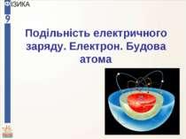 Подільність електричного заряду. Електрон. Будова атома
