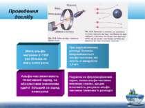 Проведення досліду Альфа-частинки мають позитивний заряд, за абсолютним значе...