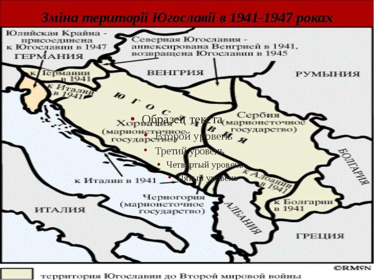 Зміна території Югославії в 1941-1947 роках