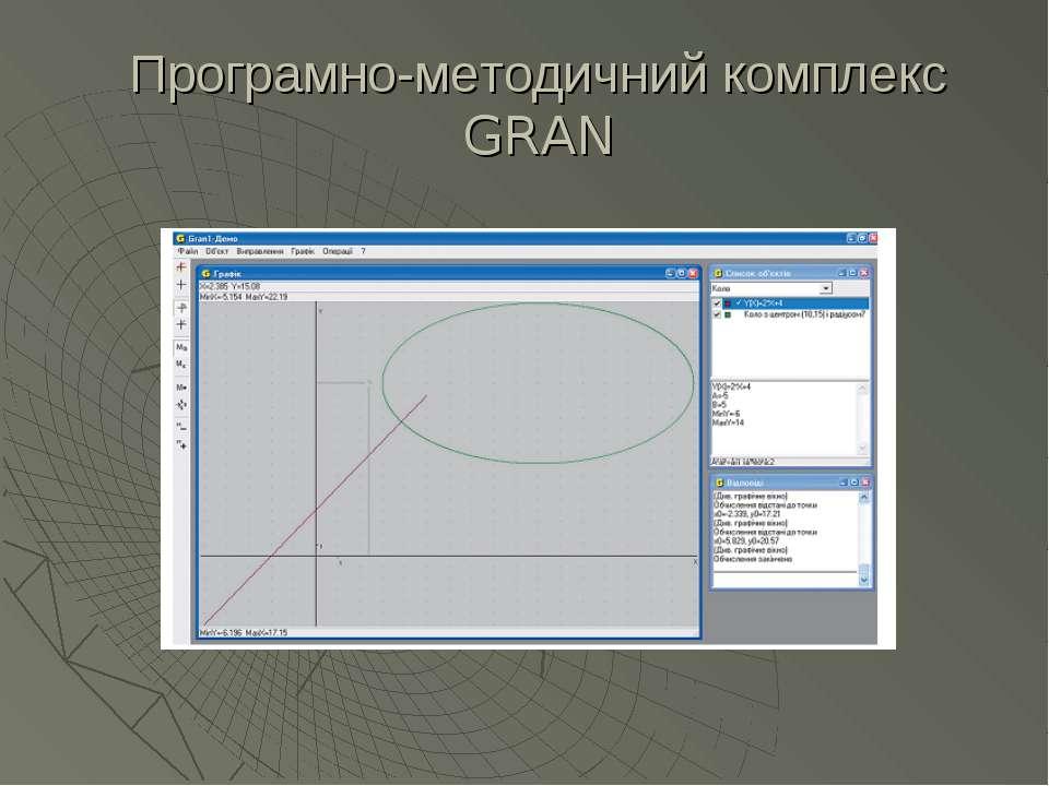 Програмно-методичний комплекс GRAN