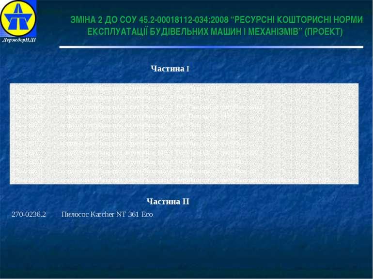 """Частина І Частина ІІ ЗМІНА 2 ДО СОУ 45.2-00018112-034:2008 """"РЕСУРСНІ КОШТОРИС..."""