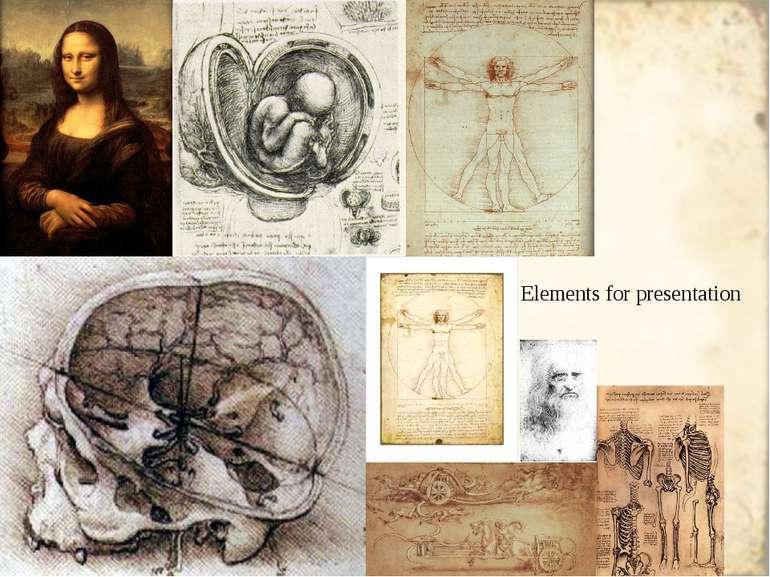 Elements for presentation