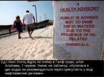 Ед і Люсі Уолтц йдуть по пляжу в Галф Шорс, штат Алабама, 7 червня. Напис на ...