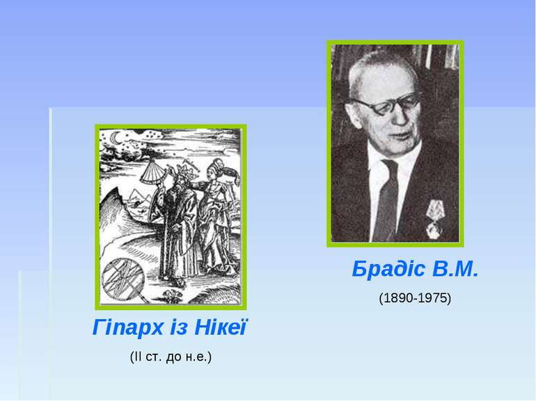 Гіпарх із Нікеї (ІІ ст. до н.е.) Брадіс В.М. (1890-1975)