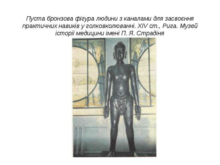 Пуста бронзова фігура людини з каналами для засвоєння практичних навиків у го...