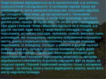 Події в романі відбуваються не в хронологічній, а в логічно-психологічній пос...