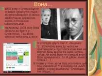 Вона… 1903 року з Олександром сталася незабутня подія – він познайомився зі с...