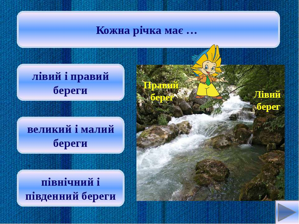 Дніпро бере початок на території … Росії Білорусі Польщі Oksana: