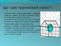 Що таке парниковий ефект? Образну назву «парниковий ефект» одержало природне ...
