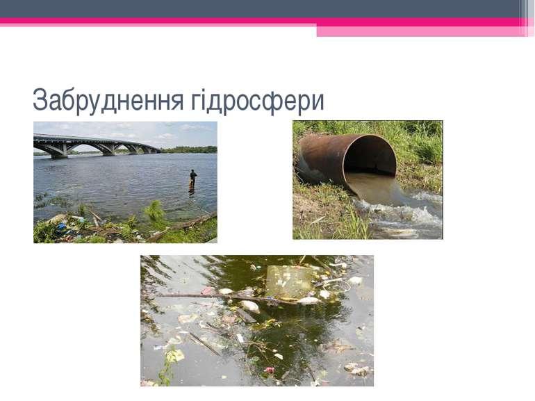 Забруднення гідросфери