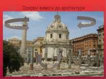Основні вимоги до архітектури Міцність Краса Користь
