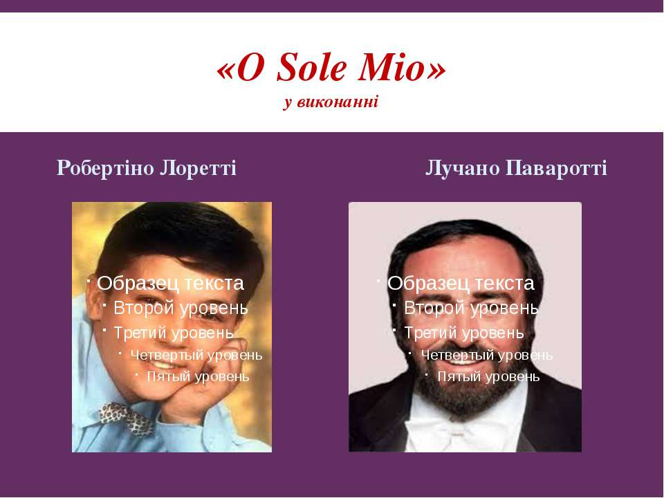 «О Sole Міо» у виконанні Робертіно Лоретті Лучано Паваротті