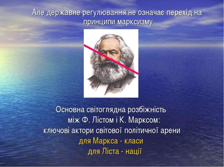 Основна світоглядна розбіжність між Ф. Лістом і К. Марксом: ключові актори св...