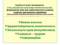 Українські вчені виокремили п'ять наскрізних ключових компетентностей, формув...