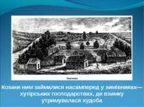 Козаки ним займалися насамперед у зимівниках— хутірських господарствах, де вз...