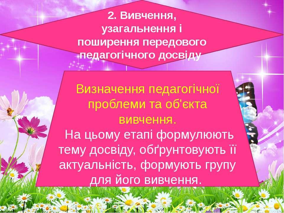 2. Вивчення, узагальнення і поширення передового педагогічного досвіду Визнач...