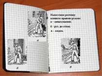 Нанесення розчину ковшем правою рукою: а - замахування; б - рух до стіни; в –...