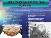 Вплив глобалізації на соц.-труд. відносини. Поглиблення міжнародного поділу п...