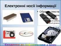 Електронні носії інформації