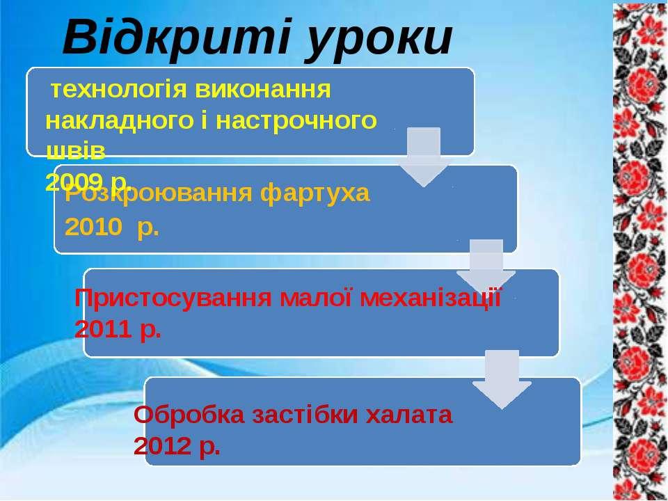 Відкриті уроки технологія виконання накладного і настрочного швів 2009 р. Обр...