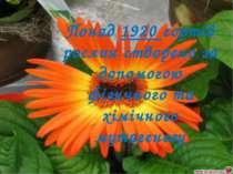 Понад 1920 сортів рослин створено за допомогою фізичного та хімічного мутагенезу