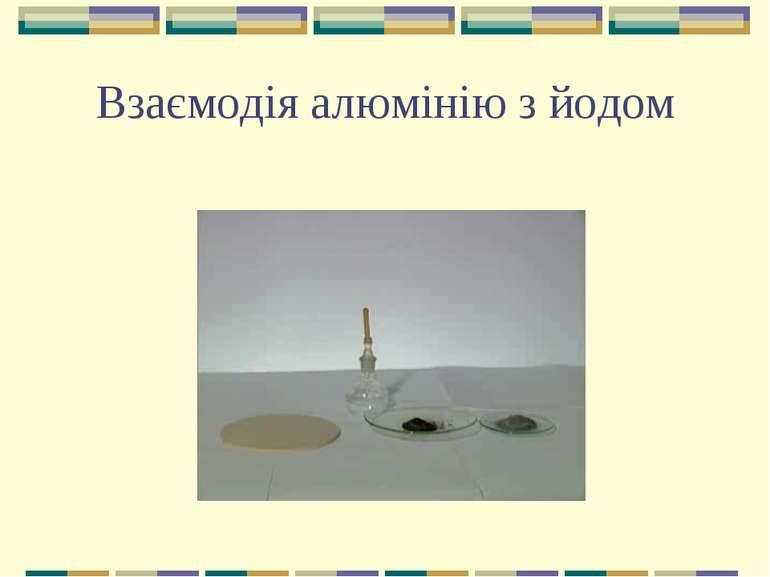 Взаємодія алюмінію з йодом