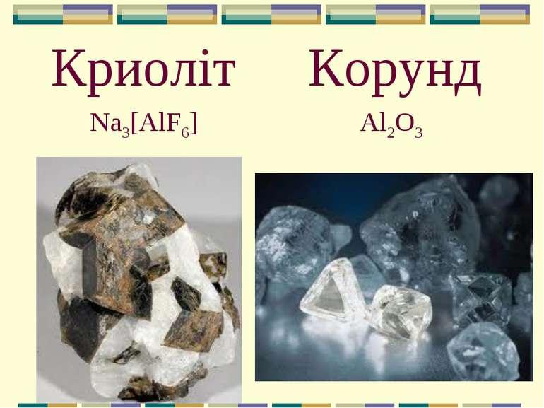 Криоліт Al2O3 Корунд Na3[AlF6]