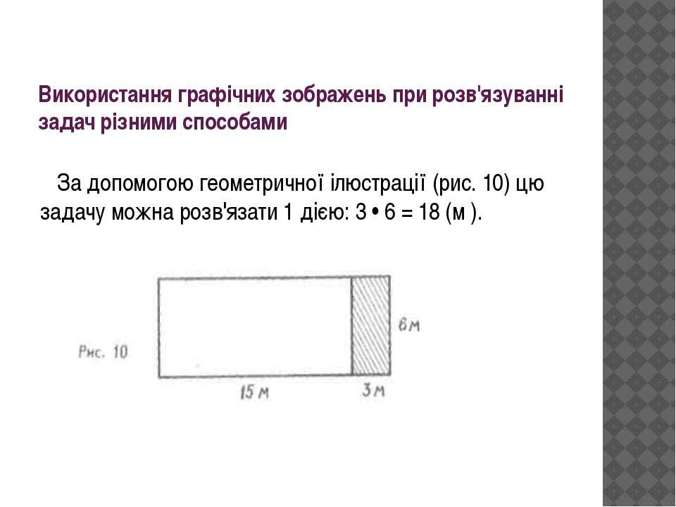 Використання графічних зображень при розв'язуванні задач різними способами За...