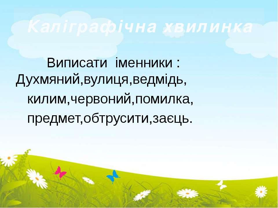 Виписати іменники : Духмяний,вулиця,ведмідь, килим,червоний,помилка, предмет,...