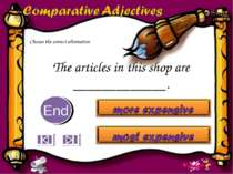 The articles in this shop are _____________. 10 9 8 7 6 5 4 3 2 1 End Choose ...