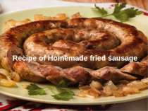 Recipe of Homemade fried sausage