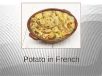 Potato in French