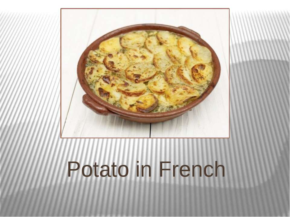 Potato in French