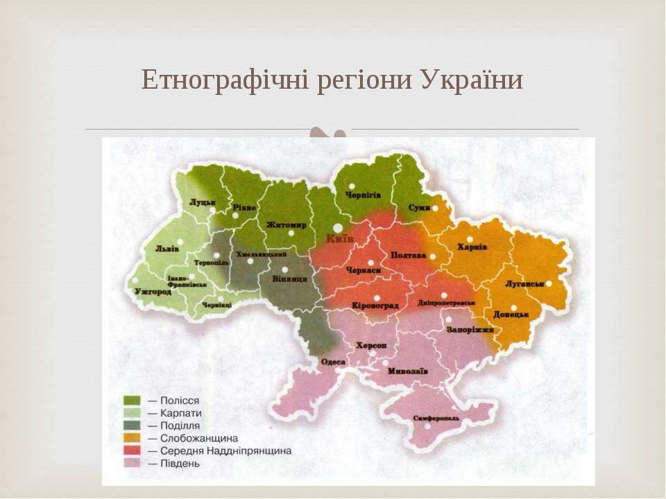 Етнографічні регіони України